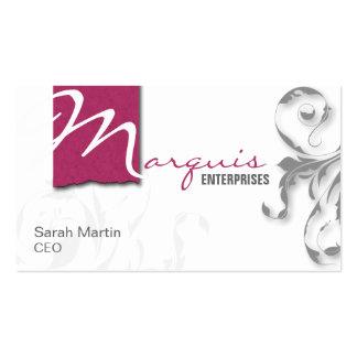 Rosa elegante corporativo del monograma de la tarj plantillas de tarjeta de negocio