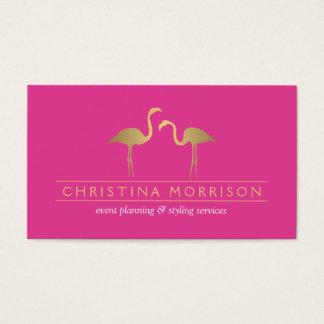 Rosa elegante del planificador de eventos de los tarjeta de visita