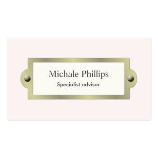 Rosa elegante vintage clásico fresco nata blanco tarjetas de visita