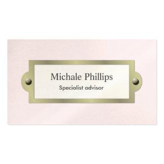 Rosa elegante vintage clásico fresco perla blanco tarjetas de visita
