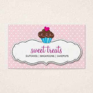 Rosa en colores pastel de la magdalena intrépida tarjeta de negocios