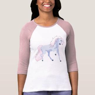 Rosa en colores pastel y azul del unicornio camisetas