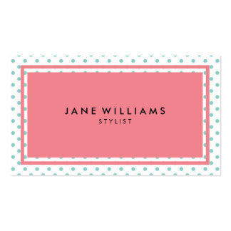Rosa en colores pastel y azul tarjetas de visita