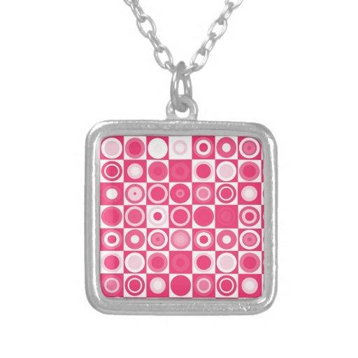 rosa fabuloso de los años 60 collares personalizados