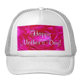 Rosa feliz del día de madre subió gorras de camionero