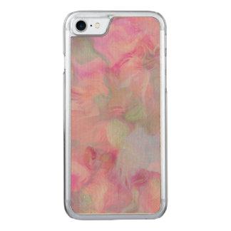 Rosa floral suave (i) funda para iPhone 8/7 de carved