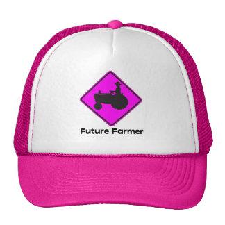 Rosa futuro del granjero gorros bordados