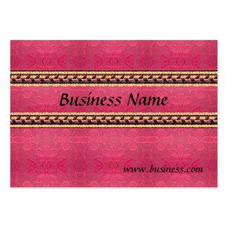 Rosa grabado en relieve negocio de la tarjeta del  plantilla de tarjeta personal