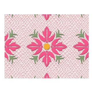 Rosa hawaiano del edredón de la flor del estilo postal