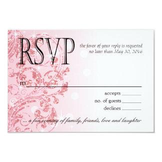 Rosa helado de lujo de Ombre RSVP el | del brillo Invitación 8,9 X 12,7 Cm