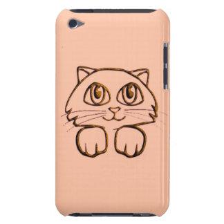 Rosa lindo del gato del gatito que mira a iPod touch Case-Mate protector