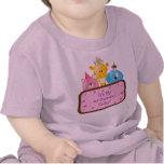 Rosa lindo del personalizable de los animales del  camisetas