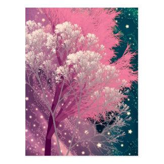 rosa loco de los árboles postal