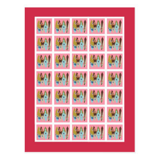 Rosa Luau hawaiano de los marcadores de la tarjeta Postal