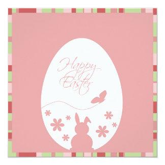 Rosa moderno del huevo de Pascua - invitación