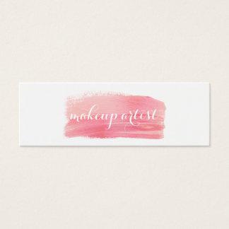 rosa moderno elegante de la acuarela del artista tarjeta de visita pequeña