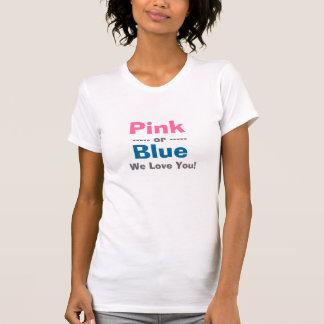 Rosa o azul le amamos - el género revela - camisa