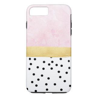 Rosa, oro, lunares - caso del iPhone Funda iPhone 7 Plus