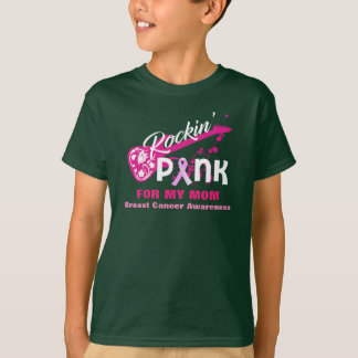 Rosa para la camisa de la conciencia del cáncer de