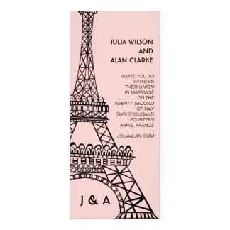Rosa parisiense de la torre Eiffel de la Invitación 10,1 X 23,5 Cm