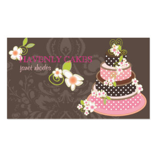 Rosa + Pastel de bodas/panadería/pâtisserie del ch Plantillas De Tarjetas Personales