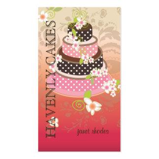 Rosa + Pastel de bodas/panadería/pâtisserie del ch Plantilla De Tarjeta Personal