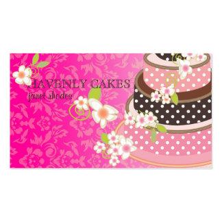 Rosa + Pastel de bodas/panadería/pâtisserie del ch Tarjetas Personales