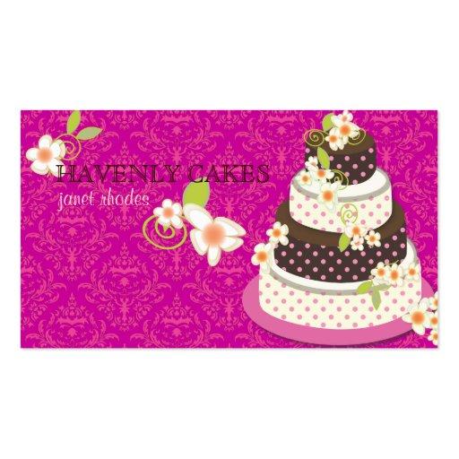 Rosa + Pastel de bodas/panadería/pâtisserie del ch Tarjetas De Visita