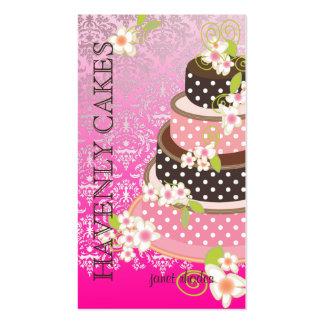 Rosa + Pastel de bodas/panadería/pâtisserie del ch Plantillas De Tarjetas De Visita