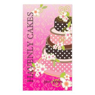 Rosa + Pastel de bodas/panadería/pâtisserie del ch Tarjeta De Visita