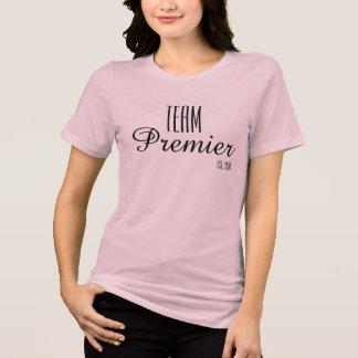 Rosa primero de la camiseta del ajuste cómodo del