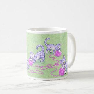 Rosa púrpura de Kittipurra Taza De Café