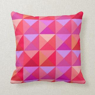 Rosa retro geométrico cojín decorativo