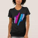 Rosa retro y azul de Keytar de los años 80 del tig Camisetas