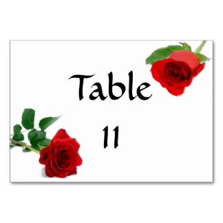 Rosa rojo de la acuarela - Tablecard