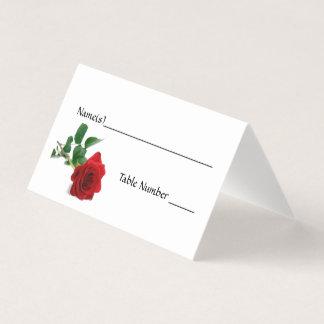 Rosa rojo de la acuarela - tarjetas del