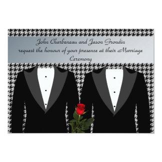 Rosa rojo del boda de los smokinges gay de la comunicado