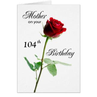 Rosa rojo del cumpleaños adaptable de la edad de tarjeta
