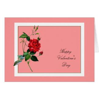 Rosa rojo del el día de San Valentín Pedro José Felicitacion
