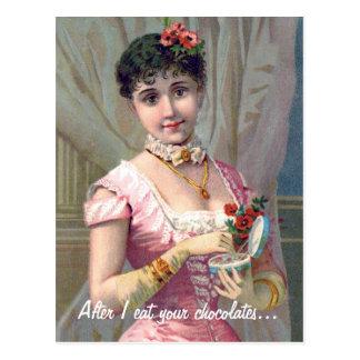 Rosa rojo divertido del el día de San Valentín el  Tarjetas Postales
