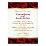 Rosa rojo - invitación del boda