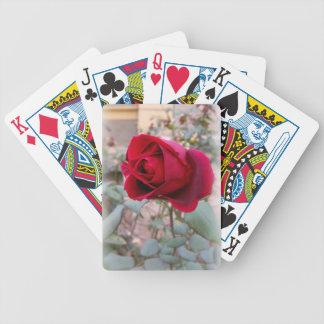 rosa rojo pasado baraja de cartas bicycle
