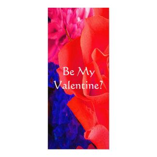 Rosa rojo rojo magnífico II Invitación 10,1 X 23,5 Cm