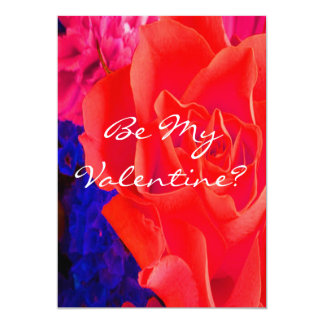 Rosa rojo rojo magnífico invitación 12,7 x 17,8 cm