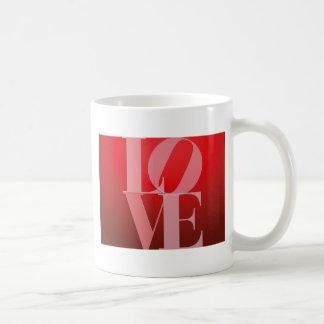 Rosa rojo romántico del amor taza de café