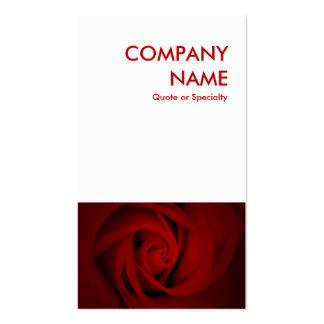 rosa rojo plantillas de tarjetas personales