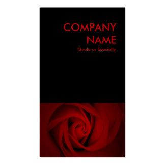 rosa rojo plantillas de tarjeta de negocio