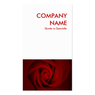rosa rojo tarjetas de visita