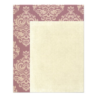 rosa rústico, marrón, coralino, damascos, folleto 11,4 x 14,2 cm