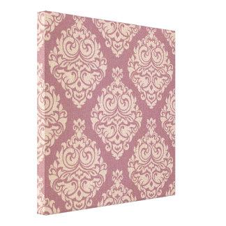 rosa rústico, marrón, coralino, damascos, impresión en lona